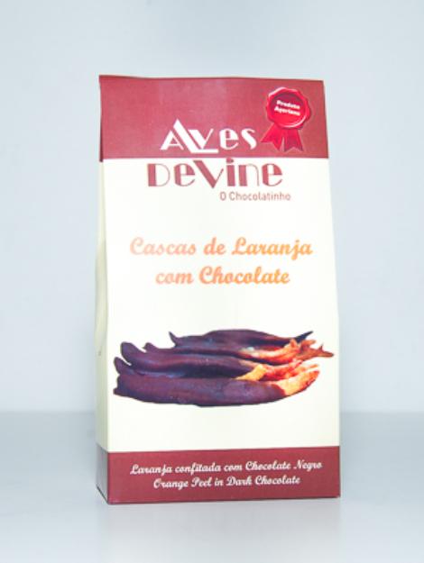 Cascas de Laranja com chocolate